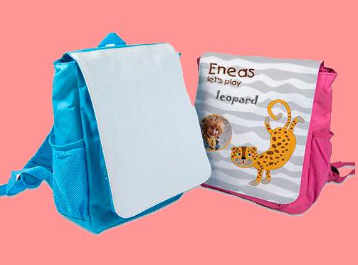 Rucksack hellblau und pink je 18,90 Euro